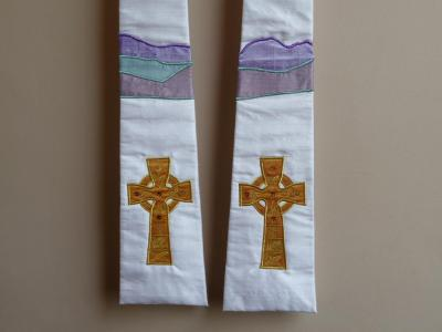 Celtic Cross with Hills and Lake