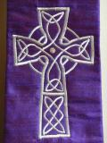 Celtic Cross on Purple